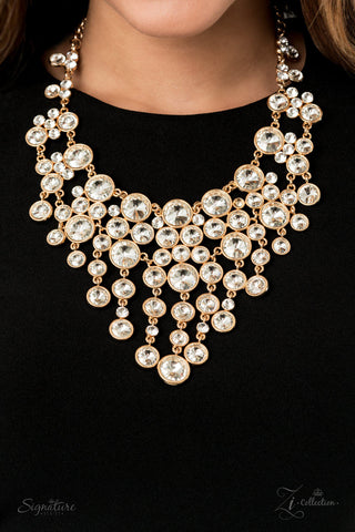 The Rosa 2020 Paparazzi Zi Collection White Necklace Set - JewelTonez Jewelry