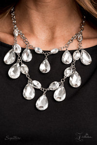 The Sarah 2020 Paparazzi Zi Collection White Necklace - JewelTonez Jewelry