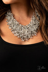 Sociable 2020 Paparazzi Zi Collection White Necklace - JewelTonez Jewelry