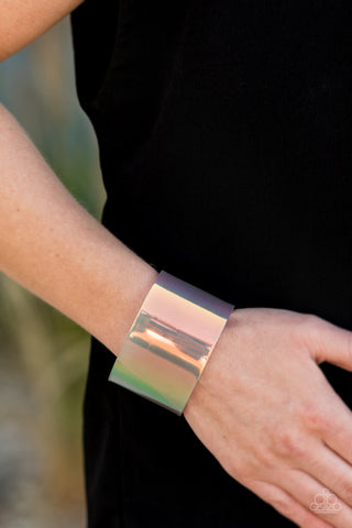 Holographic Aura Multi Paparazzi Bracelet - JewelTonez Jewelry