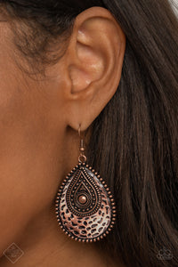 Rural Muse Copper Paparazzi Earrings - JewelTonez Jewelry