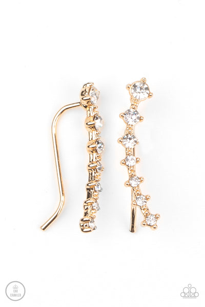 New Age Nebula Gold Paparazzi Ear Crawler Earrings - JewelTonez Jewelry