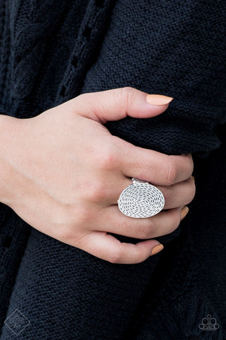 Brave The Elements Silver Paparazzi Ring - JewelTonez Jewelry