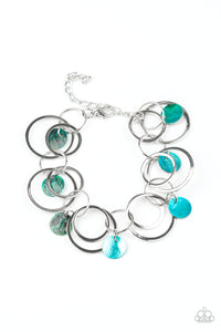 Total Shell Out Blue Bracelet Bracelet - Paparazzi Accessories