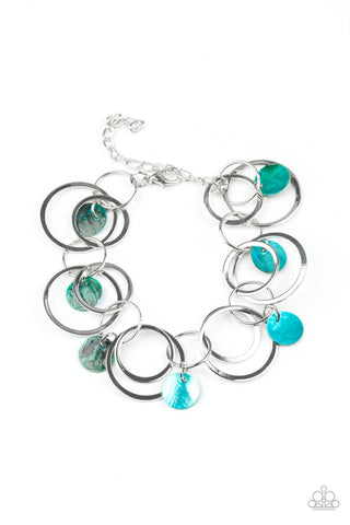 Total Shell Out Blue Paparazzi Bracelet - JewelTonez Jewelry