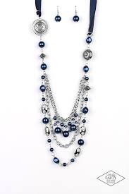 All The Trimmings Blue Beaded Blockbuster Necklace - Paparazzi Accessories Necklace set - Paparazzi Accessories