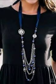 All The Trimmings Blue Blockbuster Necklace - Paparazzi - JewelTonez Jewelry