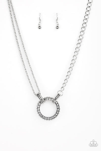 Razzle Dazzle Silver Paparazzi Necklace - JewelTonez Jewelry