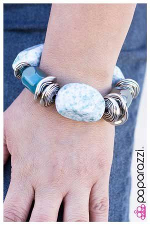Glaze of Glory Blue Paparazzi Bracelets - JewelTonez Jewelry