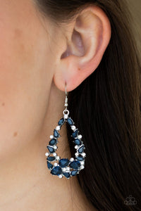 To Bedazzle, or Not To BEDAZZLE Blue Paparazzi Earring - JewelTonez Jewelry