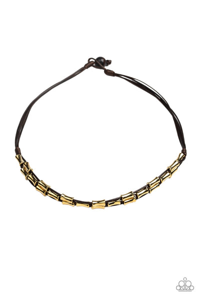 Moto Maverick Men's Brown Necklace - Paparazzi - JewelTonez Jewelry