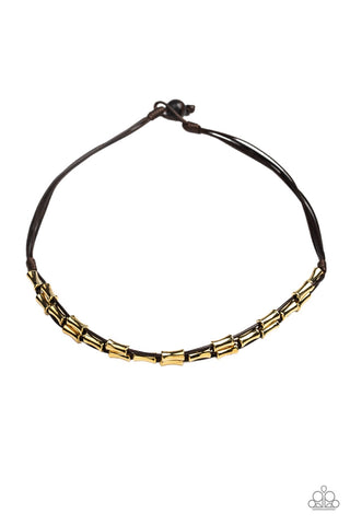 Moto Maverick Men's Brown Necklace - Paparazzi