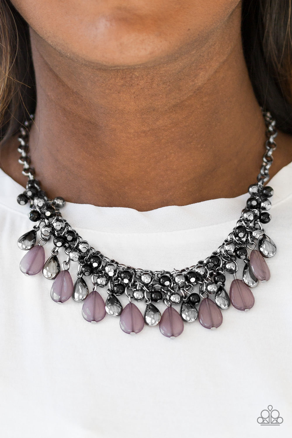 Diva Attitude Black Paparazzi Necklace - JewelTonez Jewelry