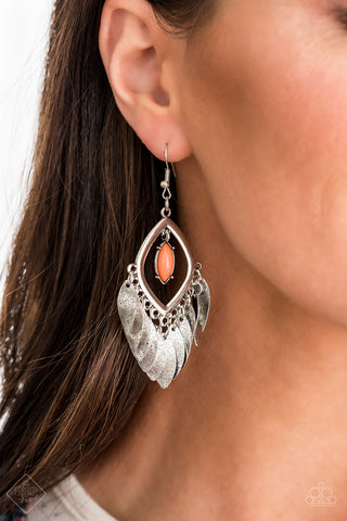 Sunset Soul Orange Paparazzi Earring - JewelTonez Jewelry