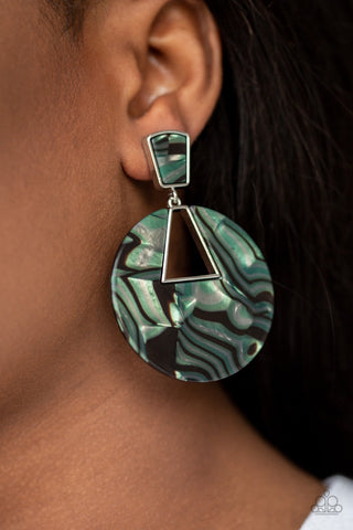 Let Heir Rip! Green Paparazzi Earrings - JewelTonez Jewelry