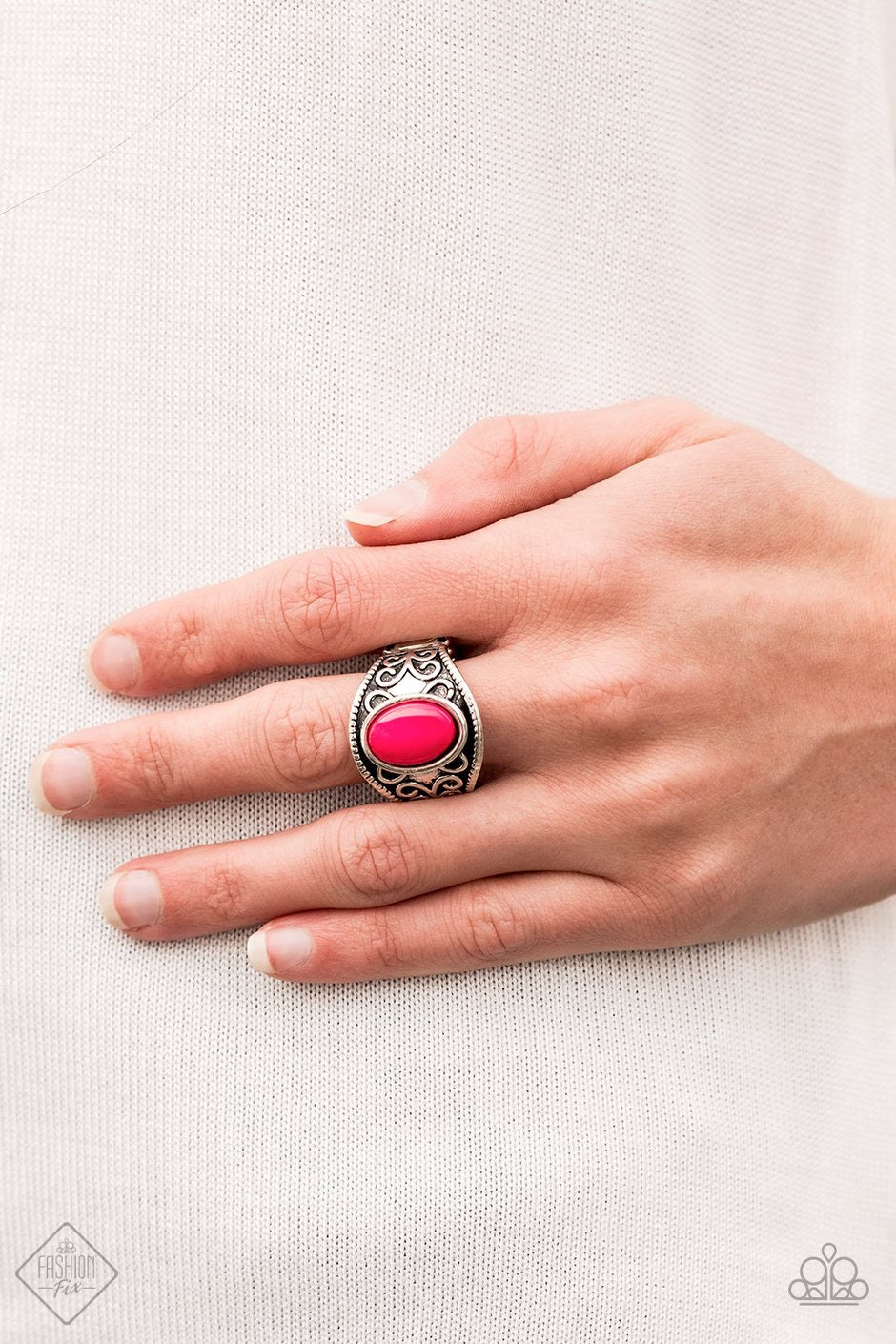 Let's Take It From The POP Pink Paparazzi Ring - JewelTonez Jewelry
