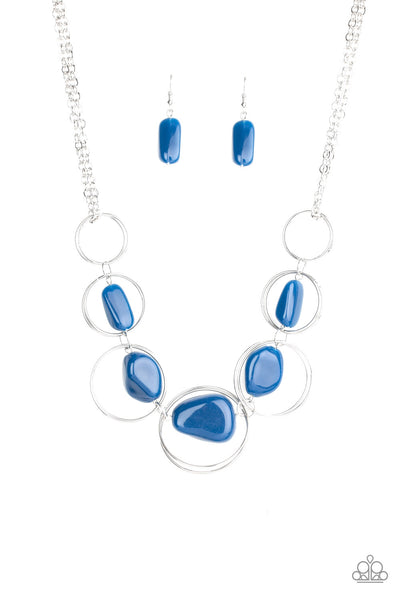 Travel Log Blue Paparazzi Necklace - JewelTonez Jewelry