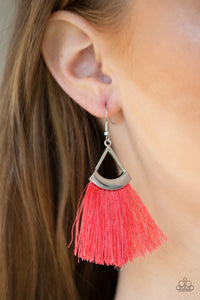 Tassel Tuesdays Orange Paparazzi Earring - JewelTonez Jewelry