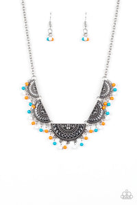 Boho Baby Multicolored Necklace - Paparazzi Accessories