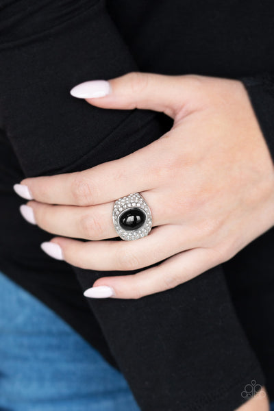 Glittering Go Getter Black Paparazzi Ring - JewelTonez Jewelry
