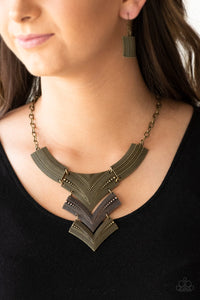 Fiercely Pharaoh Multicolored Paparazzi Necklace - JewelTonez Jewelry