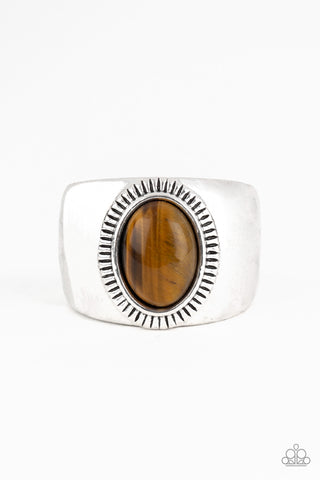 The Prospector Brown Ring - Paparazzi