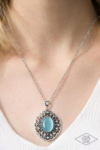 Heart of Glace Blue Paparazzi Necklace - JewelTonez Jewelry