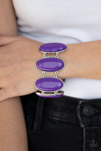 Power Pop Purple Paparazzi Bracelets - JewelTonez Jewelry