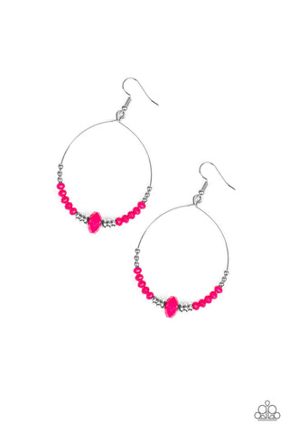 Retro Rural Pink Earrings - Paparazzi Accessories