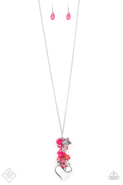 Beach Buzz Pink Paparazzi Necklace - JewelTonez Jewelry