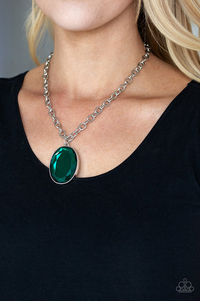 Light As Heir Green Paparazzi Necklace - JewelTonez Jewelry