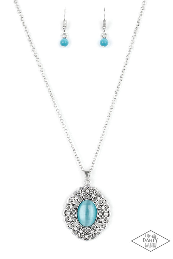 Paparazzi Heart of Glace - Blue Necklace set - Paparazzi Jewelry Necklace set