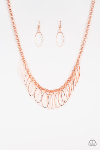 Fringe Finale Copper Necklace - Paparazzi Accessories Necklace set - Paparazzi Accessories