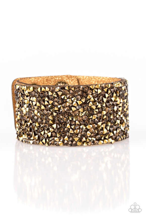 More Bang For Your Buck - Gold Bracelet - Paparazzi Accessories Bracelet - Paparazzi Accessories