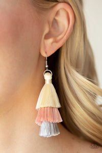 Hold Onto Your Tassel Pink Paparazzi Earrings - JewelTonez Jewelry