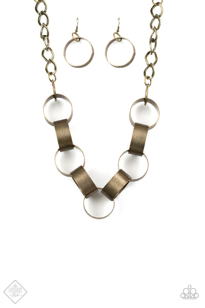 Big Hit Brass Paparazzi Necklace - JewelTonez Jewelry