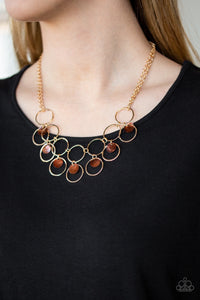 Ask and You SHELL Receive Brown Necklace Paparazzi JewelTonez Jewelry