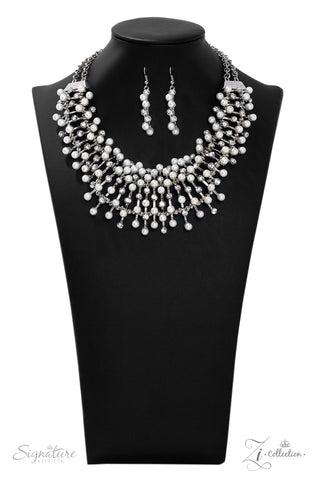 The Leanne 2019 Silver Zi Collection Necklace - Paparazzi