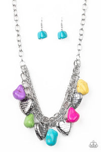 Change of Heart Multicolored Necklace - Paparazzi