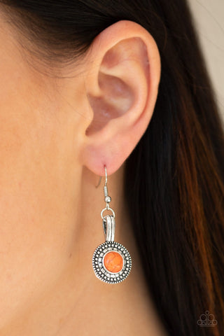 Simply Stagecoach Orange Paparazzi Earring - JewelTonez Jewelry