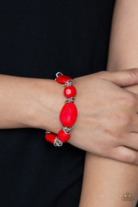 Savor The Flavor Red Paparazzi Bracelet - JewelTonez Jewelry