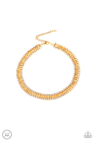 Empo-HER-ment Gold Choker Necklace - Paparazzi