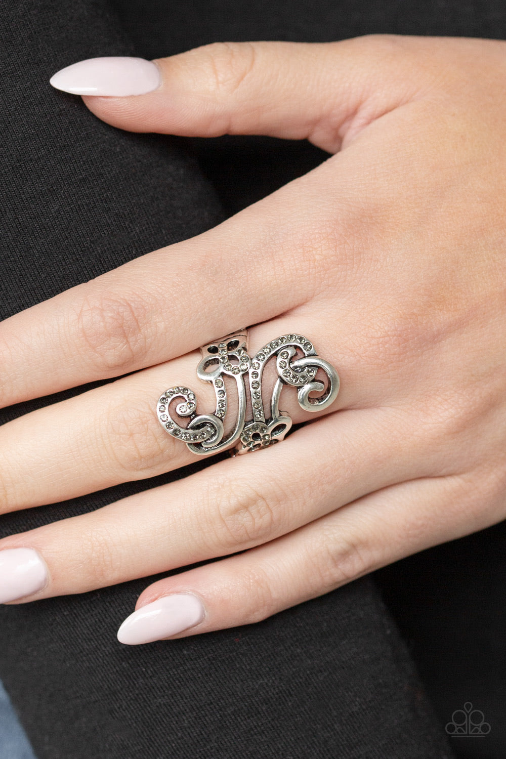 Waltzing Wonders Silver Paparazzi Ring - JewelTonez Jewelry