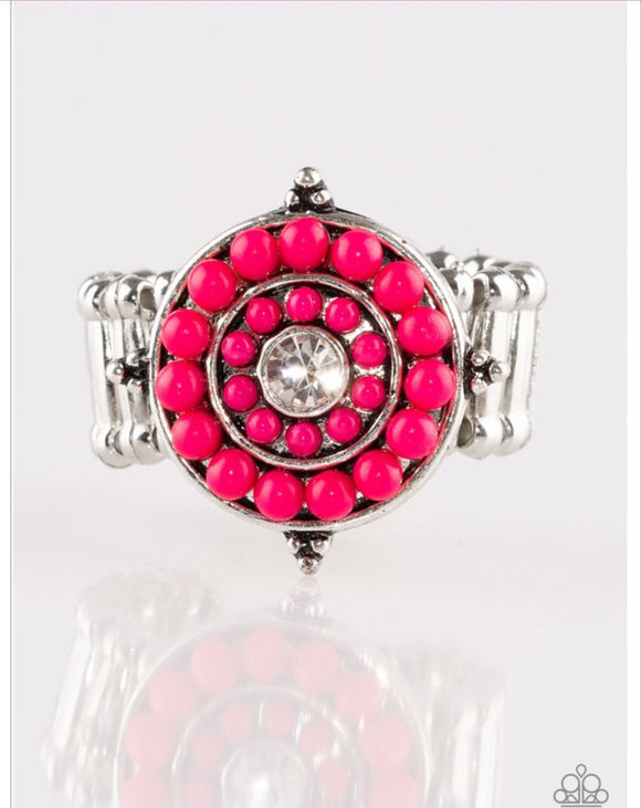 High-Tide Pool Party-Pink Ring - Paparazzi Jewelry Ring