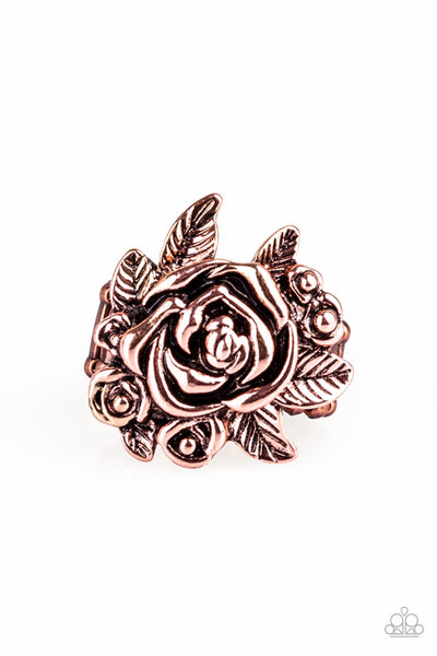 Bouquet Bonanza Copper Paparazzi Ring - JewelTonez Jewelry