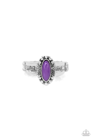 Zest Quest Purple Rhinestone Ring - Paparazzi