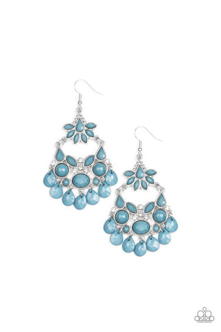 Garden Dream Blue Earring - Paparazzi