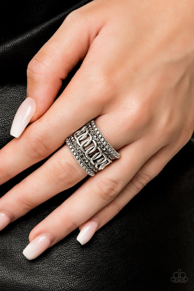 Out For The Count Silver Paparazzi Ring - JewelTonez Jewelry
