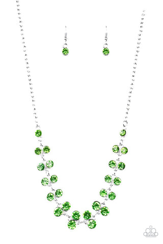 Super Starstruck Green Necklace - Paparazzi - JewelTonez Jewelry