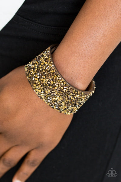 More Bang For Your Buck - Gold Bracelet - Paparazzi Accessories - JewelTonez Jewelry